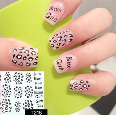 Nail Art Water Transfer Stickers - T216 Nail Sticker Tattoo - FashionDancing