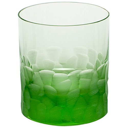Moser Crystal Pebbles Double Old Fashioned Ocean Green by MOSER CRYSTAL