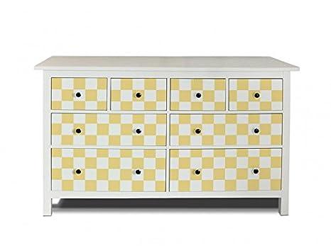 yourdea Muebles de pantalla para cómoda de Ikea hemnes 8 cajones/Muebles de pegatinas para diseñar Incluso/ - pegatinas adhesivas con diseño cuadros Mostaza ...