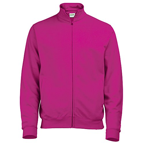 AWDis Hoods Fresher full zip sweatshirt Hot Pink S