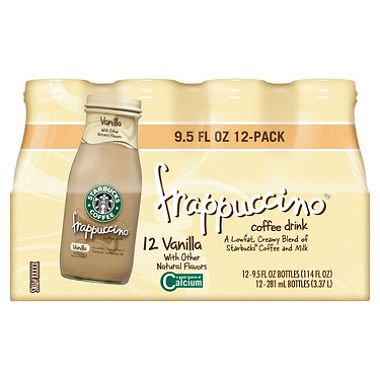 SCS Starbucks Frappuccino Coffee Drink - Vanilla - 9.5 Oz. - 12 Pk. by Starbucks
