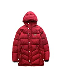 Zhhlinyuan Fashion Kids School Hooded Coat Boy Winter Thick Warm Windproof Jacket