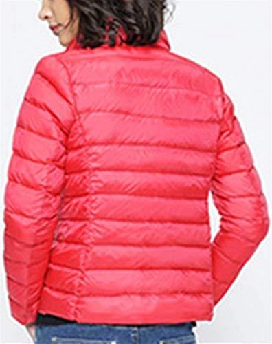 Outerwear Outwear Lunga Con Giacca Tasche Piumino Hot Manica Monocromo Di Collo Ragazza Coreana Elegante Chinarot Cerniera Laterali Invernali Moda Chic Leggero Donna Cappotto xqxYAaRwC