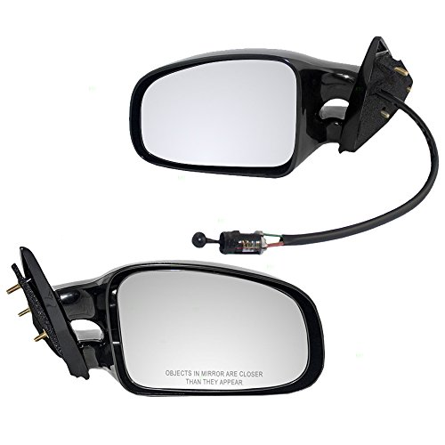 Driver and Passenger Manual Side View Twin Post Mirrors Replacement for Pontiac Grand Am 22613599 22613598 AutoAndArt ()
