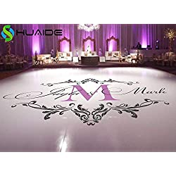 LuxeArt Wedding Dance Floor Stickers Custom Names Available Vinyl Floor Decals Removable Wedding Floor Monogram Waterproof Sticker ZA101