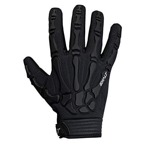 Exalt Death Grip Paintball Glove - Full Finger Skeleton Hand Glove with Bones (Black, Medium) -