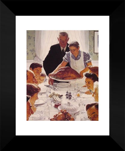 Freedom from Want 15x18 Framed Art Print by Rockwell, Norman