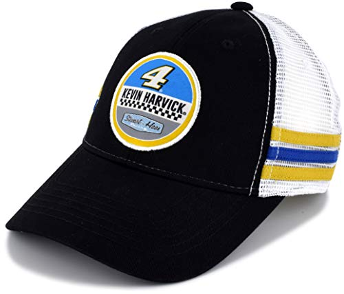 SMI Properties Kevin Harvick 2019 Vintage Patch Mesh #4 NASCAR Hat Black, White