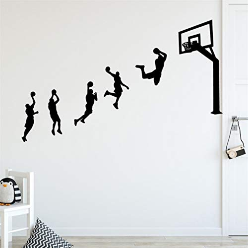 Tiude Vinyl Wall Decal Wall Stickers Art Decor New Basketball Game Personalized Creative for Kids Rooms