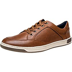 JOUSEN Men's Fashion Sneakers Lightweight Casual Shoes Business Dress Sneaker (9.5,Brown)