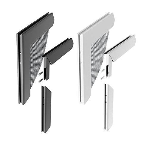Windhager Insektenschutz Z8 Aluminium-Eckverbinderset, silber, 0,68 x 6 x 6 cm 03538