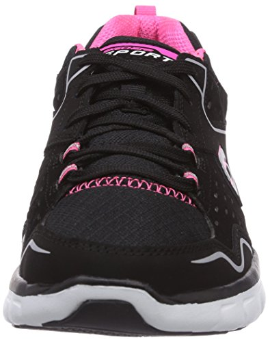 Skechers Sport Mujeres Synergy A Lister Zapatillas De Moda Black / Hot Pink