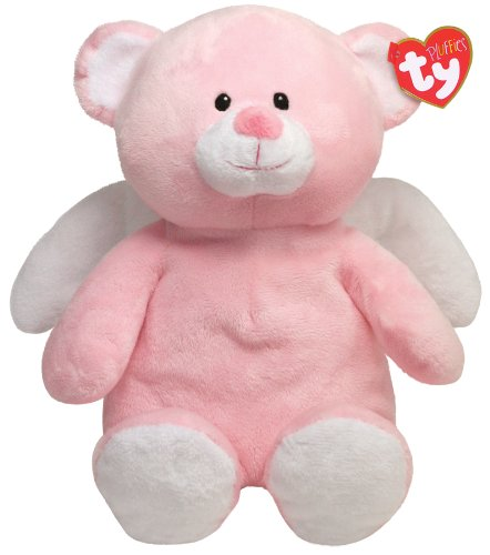 Ty Pluffies Little Angel - Pink Bear