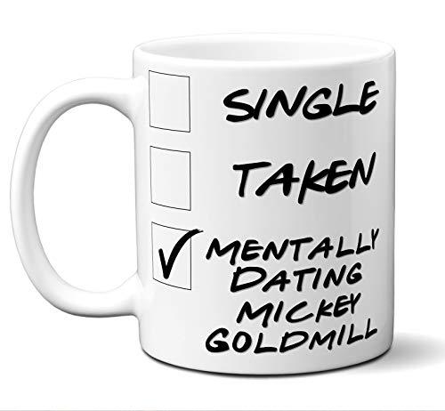 "Funny""Mickey Goldmill"" Novelty Movie Lover Gift Mug. Single, Taken. Poster, Men, Women, Birthday, Christmas, Father"