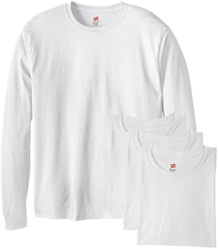Hanes Men's Long-Sleeve ComfortSoft T-Shirt (Pack of four)