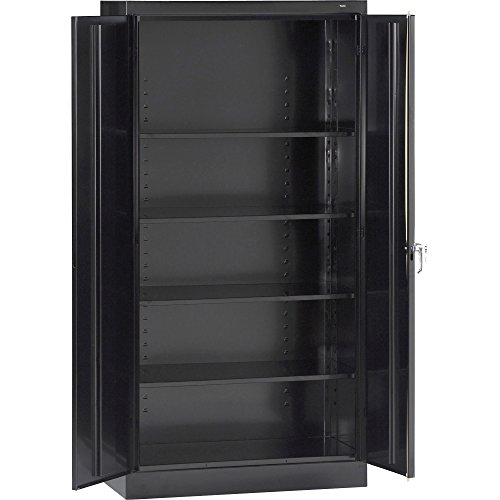 Tennsco 7224 24 Gauge Steel Standard Welded Storage Cabinet, 4 Shelves, 200 lbs Capacity per Shelf, 36