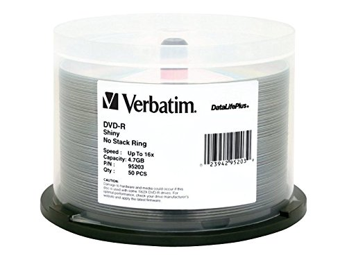Verbatim 4.7GB up to 16x VX Recordable Disc DVD-R, 50-Disc Spindle 97281 by Verbatim