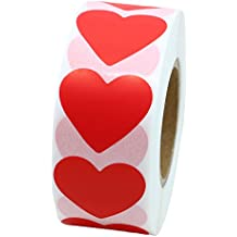 Hybsk Color Coding Dot Labels 30mm Love Heart Natural Paper Stickers Adhesive Label 1,000 Per Roll (1 Roll)