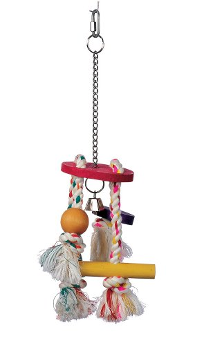Junglewood Rope Chime with Round Top, Bell Bead, Block, Cylinder & Peg