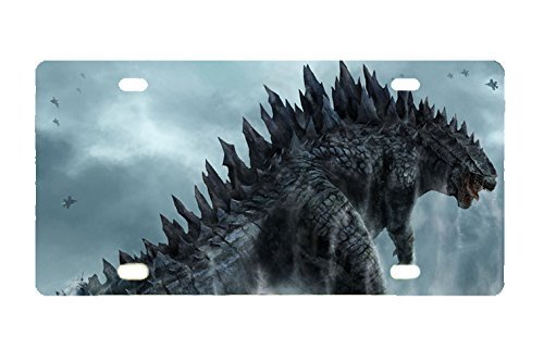 Godzilla custom Metal License Plate for Car 11.8 inch X 6.1 inch (Godzilla License Plate Frame compare prices)