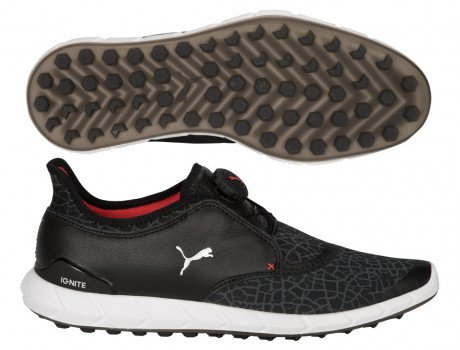 PUMA Golf Men's Ignite DISC Extreme Golf Shoe, Black/Silver/