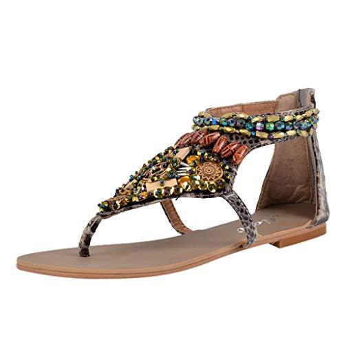 Escarpins bout Sunnywill Slip à String Mode Flats Chaussures pointu On Bead Beige Sandales Formelles Noir Open Stiletto Rome Bohemia Tongs Beige Femme Red PwzqPS