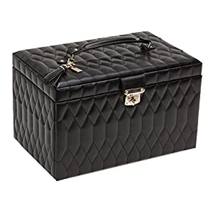 WOLF 329671 Caroline Large Jewelry Case, Black