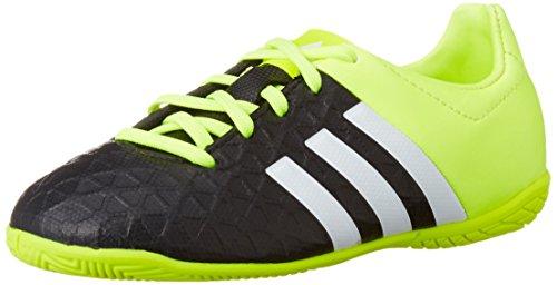 adidas Performance Ace15.4 IN, Jungen Fußballschuhe, Gelb (Core Black/Ftwr White/Solar Yellow), 38 EU (5 Kinder UK)
