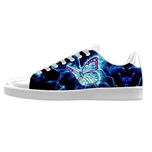 Color Personalizado Flying Butterfly Hombres Zapatos De Lona Los Cordones En El Alto Por Encima De Las Zapatillas Zapatos Zapatos De Lona.