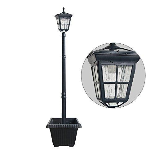 Outdoor Lamp Post Amazon: Kemeco ST4311AHP 6 LED Cast Aluminum Solar Lamp Post Light