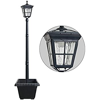 Amazon.com: 7' Tall Kenwick Solar Lamp Post and Planter