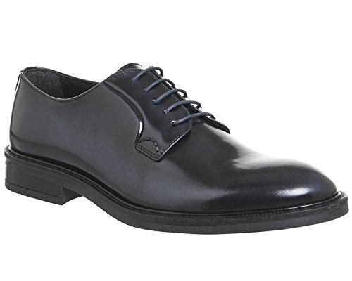 Ask The Missus , Herren Sneaker Navy Hi Shine Leather