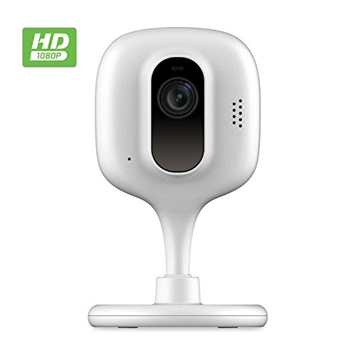 Zencam 1080p WiFi Camera, Indoor Security Wireless IP Camera, Two-Way Talk, Night Vision for Home, Office, Baby, Pet Cam with MicroSD & Cloud Storage, White (E2W)