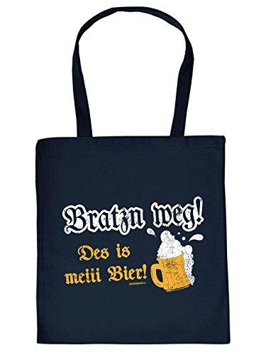 Lässige Baumwolltasche fürs Obtoberfest : BRATZN WEG/ MEI BIER , von Goodman Design