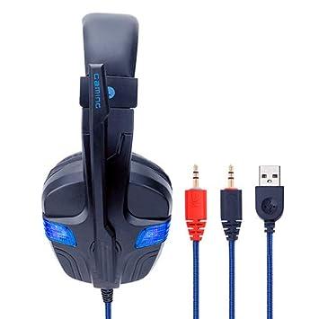 con luz LED de micrófono con Auriculares USB para Juegos PS4 con ...
