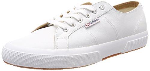Superga Unisex Adulti 2750 Sneaker Nappaleau Bianco (bianco)