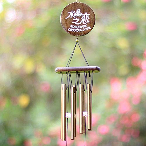S Soccer - Outdoor Living Yard Garden Decor Love Copper Wind Chimes Tubes Bells Birthday Hanging Ornament - Occer Cleat Ball Hoe Ock Goal