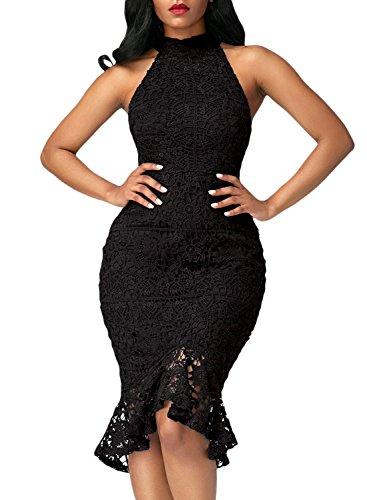 all lace dress black - 4