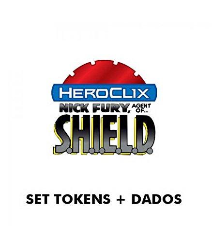 Marvel Heroclix Shield - Marvel Heroclix Nick Fury Agent Shield Dice & Token Pack by WizKids