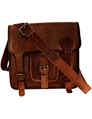 HLC Mens Auth Real Leather Messenger Bags Laptop Briefcase Satchel Mens Bag