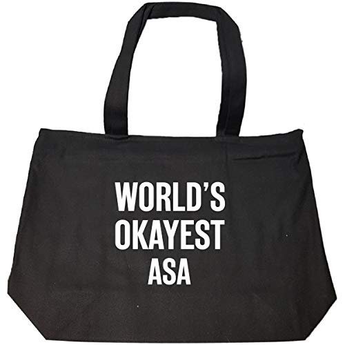 World's Okayest Asa Funny Gift For Asa - Tote Bag With Zip