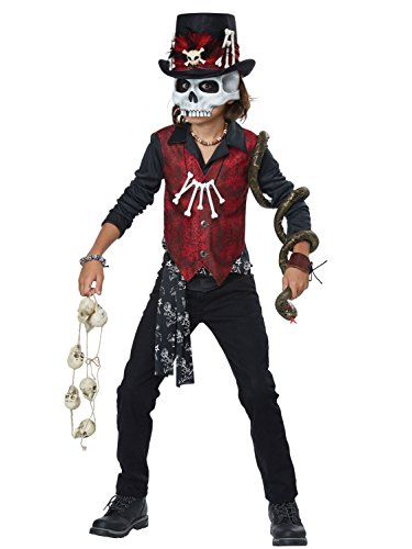 Voodoo Hex Boys Costume Black/Red -
