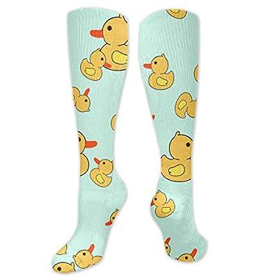 DanontKery Rubber Duck 3D Printing Cool Athletic Socks Sports Socks Compression Socks Football Socks Long Socks Knee High Socks for Boys Girls Kids Toddler