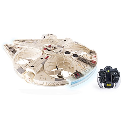 Air Hogs - Star Wars Remote Control Millennium Falcon XL Flying Drone 2.4GHz 4-Channel with -