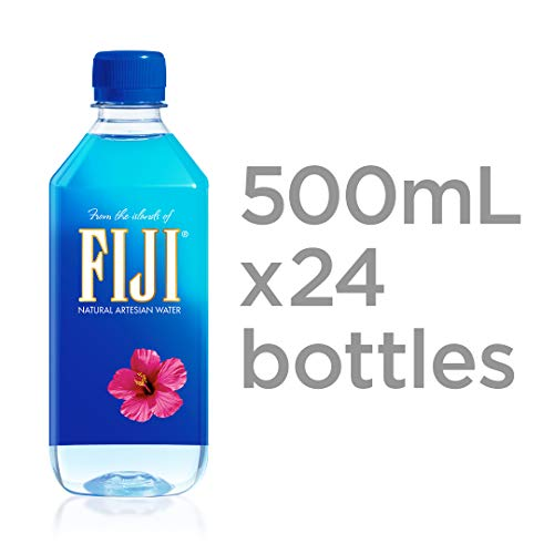 FIJI Natural Artesian Water, 16.9 Fl Oz (Pack of 24) (Best Bottled Water Review)