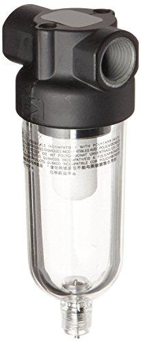 "Dixon F07-200M Norgren Series Manual Drain Miniature Filter, Transparent Bowl, 150 PSI, 1/4"" Port Size, 21 SCFM, 5 Micron"