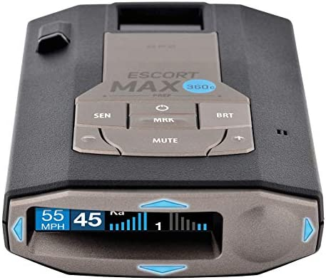 Escort MAX360C Laser Radar Detector - WiFi and Bluetooth Enabled, 360° Protection, Extreme Long Range, Voice Alerts, OLED Display, Live, Black