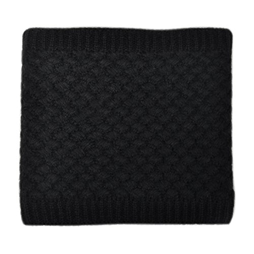 Review Lo Shokim Infinity Scarf Circle Loop Knit Neck Warmer Winter Warm Scarf Neck Gaiter,Black
