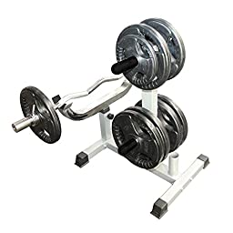 Valor Fitness CB-7 Curl Station Rack, Chrome