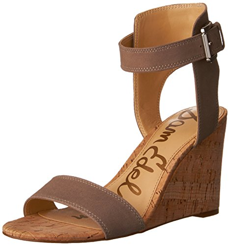 Sam Edelman Women's Willow, Putty Suede, 8.5 M US (Wedges Suede Edelman)
